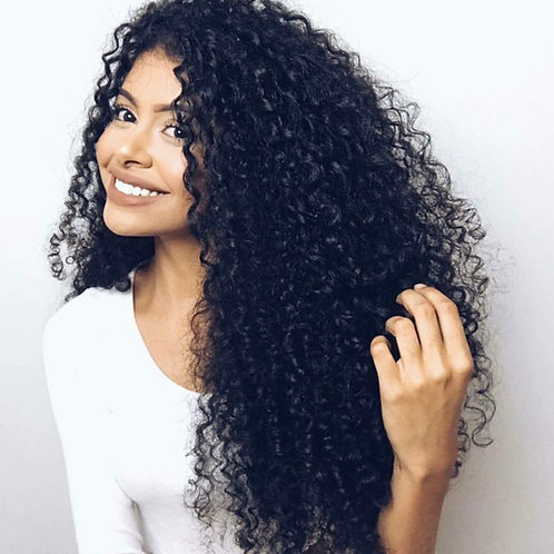 Pure Lux Tahitian Curly Brazilian Hair Extensions