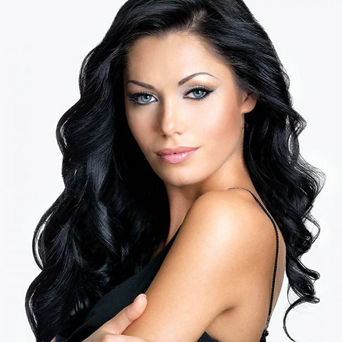 Keratin Hair Extensions Black Coffee #1 Itip Strands