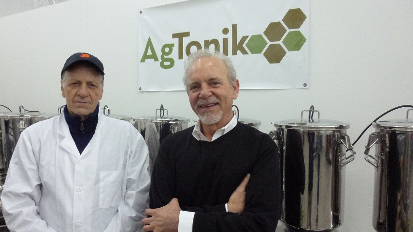 AgTonik officers Ralf Ostertax (left) and Andrew Bruex say that hydroponics operations and the cannabis industry are fast growing segments for their business.