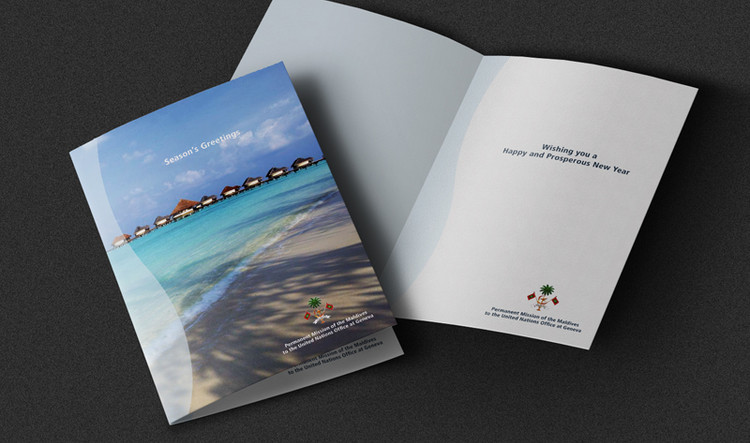 Mission des Maldives | greetings cards