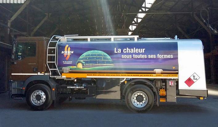 Bosson Combustibles  |  habillage des camions citerne
