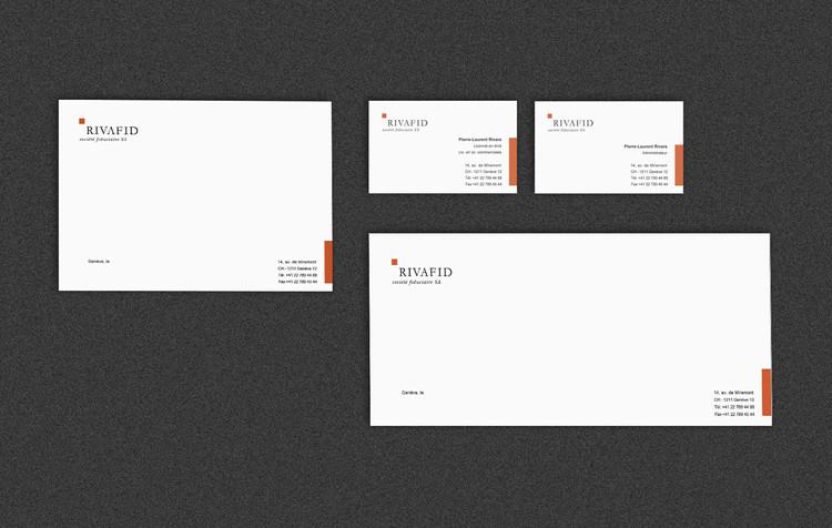 Rivafid | logo + papeterie