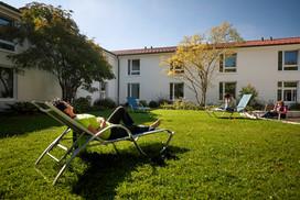 Entspannung im Innenhof