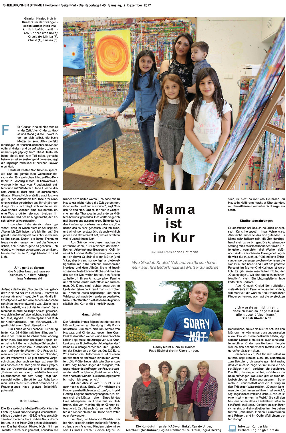 Mama ist in Kur - Müttergenesung Loßburg hilft