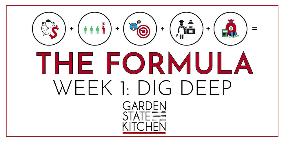 THE FORMULA: Week 1 - Dig Deep