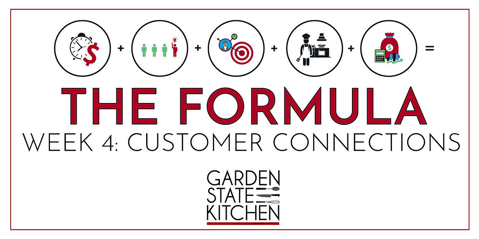 THE FORMULA: Week 4 - Customer Connections