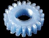 Pignon PETG bleu transparent.png