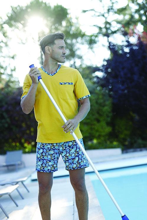 pyjama équateur jaune