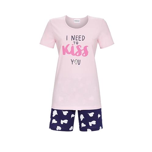 pyjashort Kiss rose