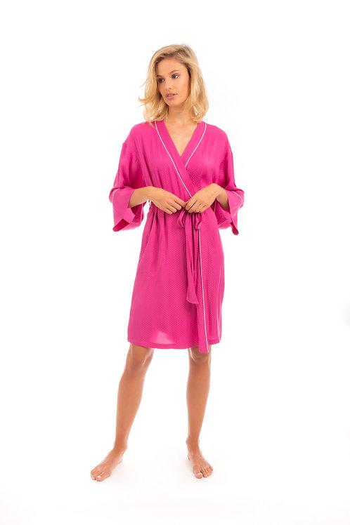 robe de chambre/kimono satin framboise