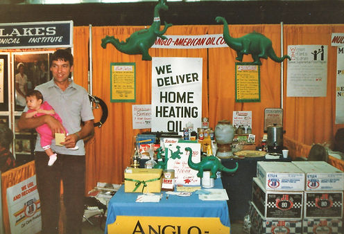 Anglo American Propane & Fuel Oil at their first trade show in Detroit Lakes in 1984.