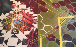 The Near and the Far, diptych
