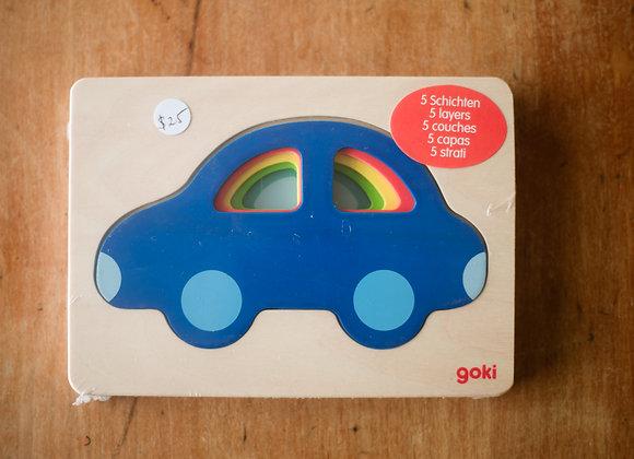 Goki car puzzle