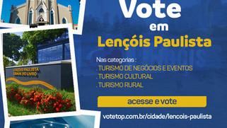 Lençóis Paulista participa do prêmio Top Destinos Turísticos
