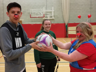 Stirling Netball Club versus Stirling Knights for Comic Relief