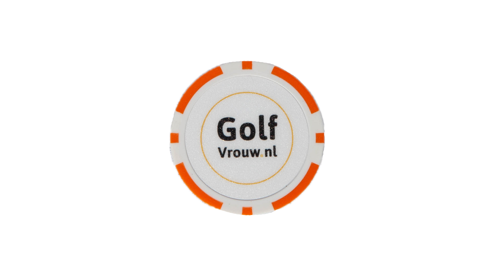 GolfVrouw Pokerchip Ballmarker