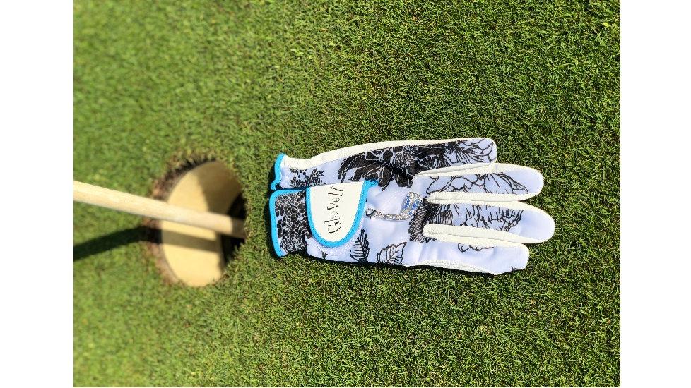 "Dames golfhandschoen - B/W Rose ""Glove it"""
