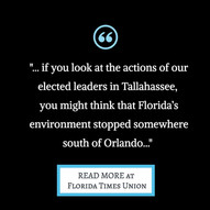 State leaders are letting down the environment in North Florida