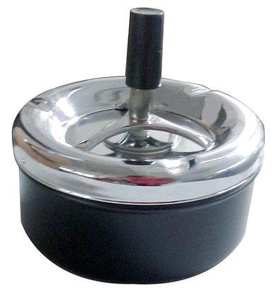 Push bottom ashtray