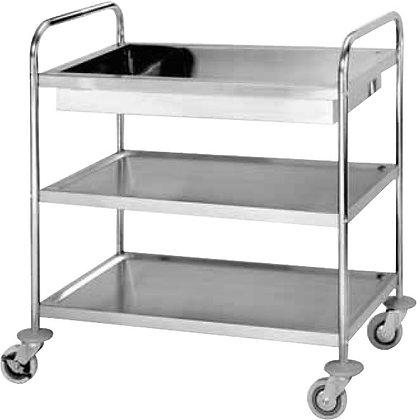 3-Shelf Trolley w/ Water Basin