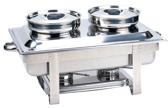 838 Chafer Rectangular with 2 Soup Bowl