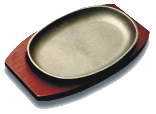 Oval Sizzle latter with Board