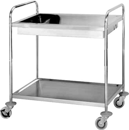 2-Shelf Trolley w/ Water Basin