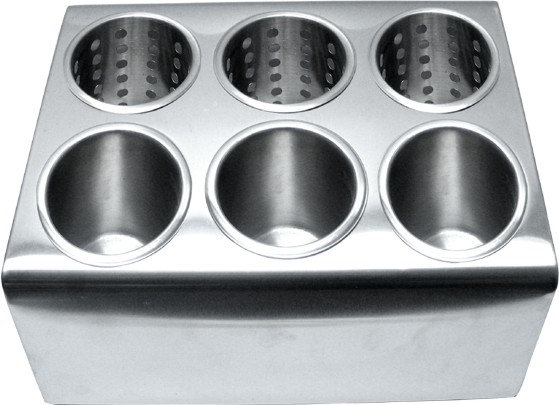 SS Cutlery 6 Cylinders Holder