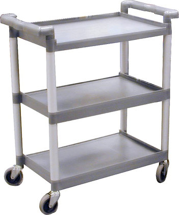 Plastic 3-Shelf Trolley
