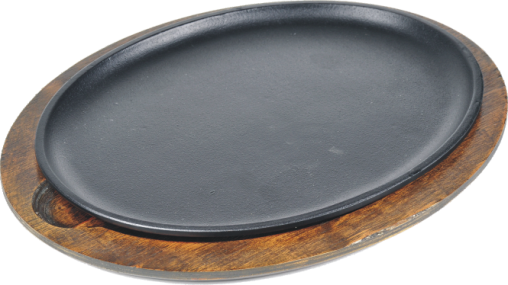 Oval Sizzle Platter with Board
