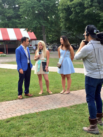 Owner Rob Masiello and Nexus President Samantha Bussanich during an interview with Maggie Morley