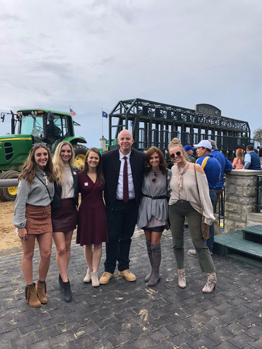 Watching the races from the Keeneland winners' circle!