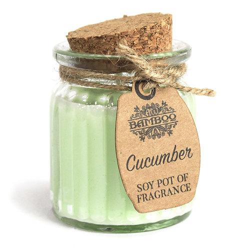 Bougies en pot à la cire de soja - Concombre