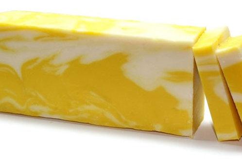 Savonnette artisanale à l'huile d'olive Citron  (environ 100 grs)