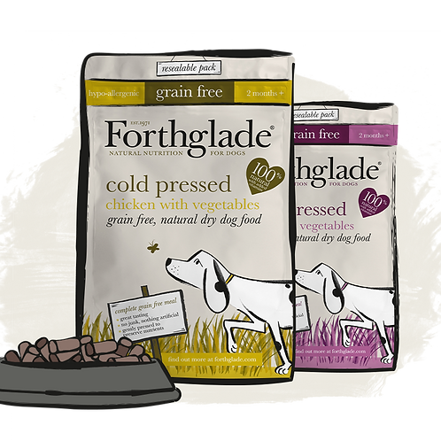 Forth Glade - Cold pressed natural dry dog food