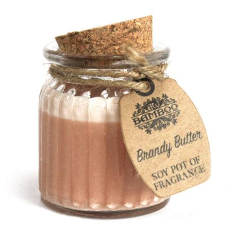 Bougies en pot à la cire de soja - Beurre de Brandy