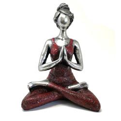 yoga femme bordeaux&argent