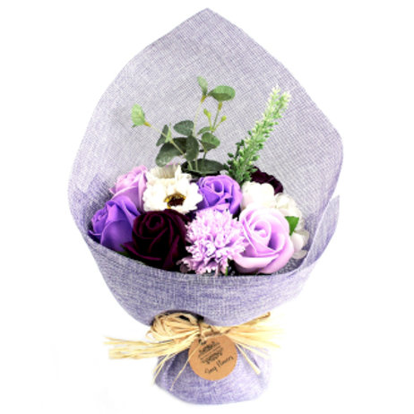 Bouquet de fleurs de savon - Violet