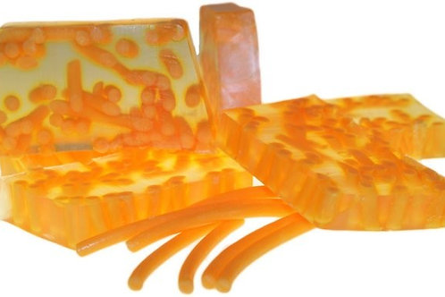 Pain de savon artisanaux Spaghetti - Mandarine et Jasmin (environ 100 grs)