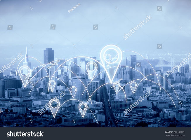 stock-photo-city-with-abstract-connected-location-pins-dull-sky-background-navigation-conc