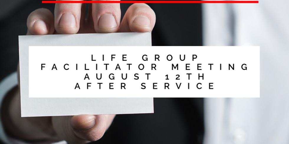 Life Group Facilitator Meeting