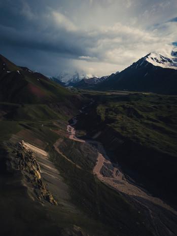 Lenin Peak Shrouded in Cloud (Matt Horspool)