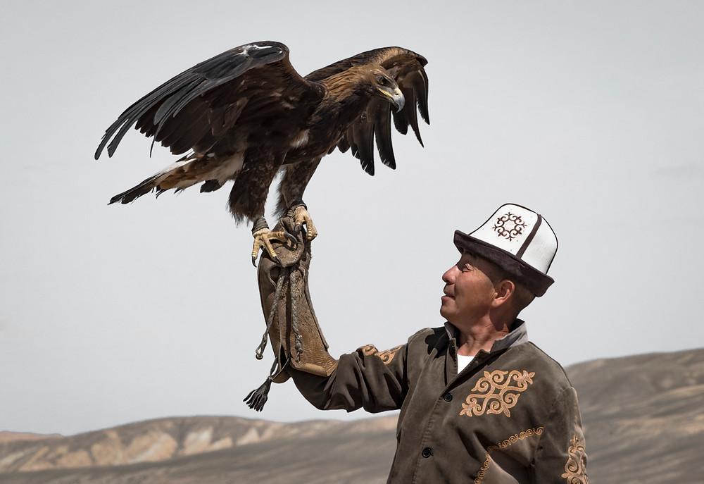 A Kyrgyz eagle hunter