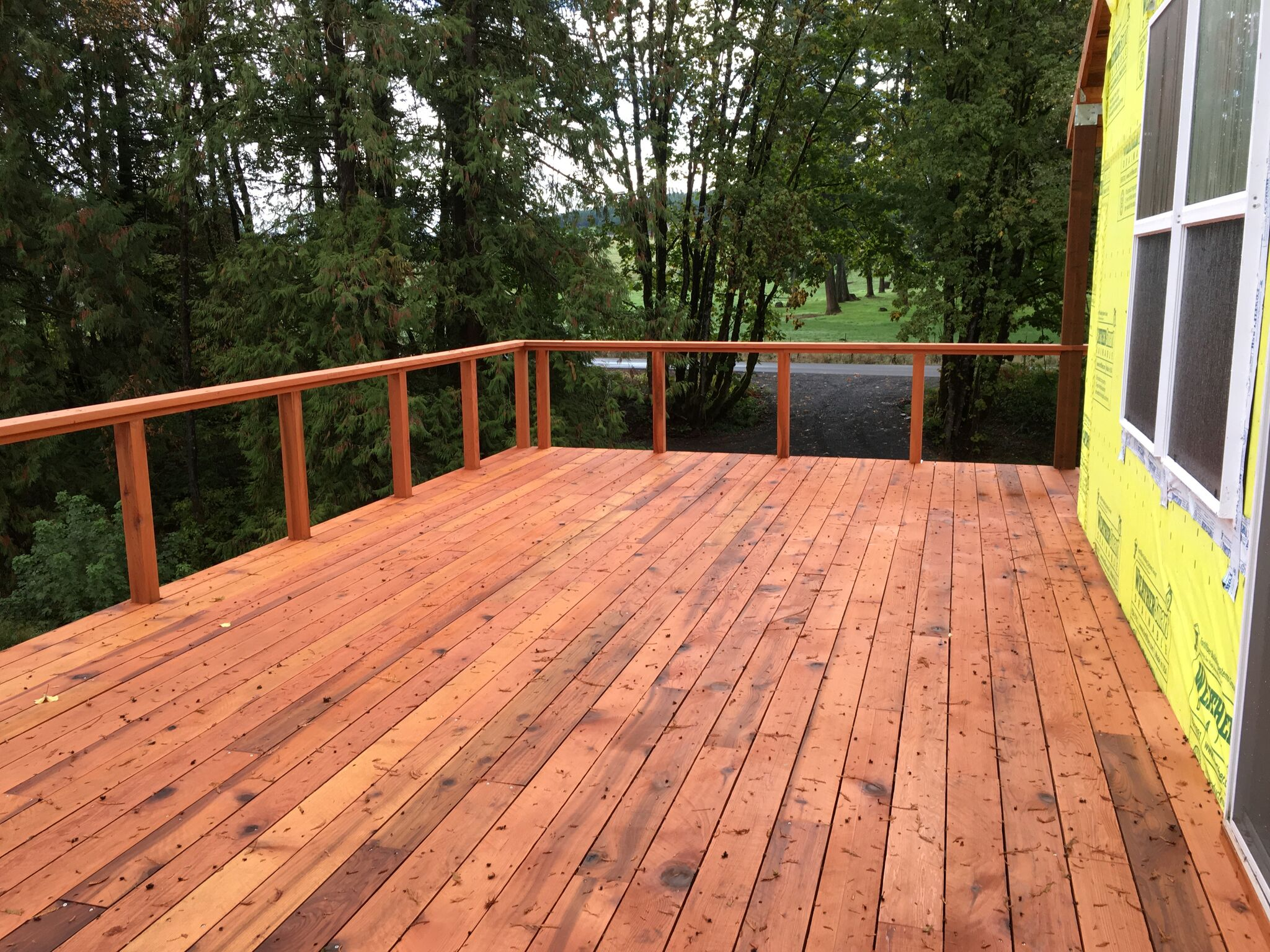 Raised Back Deck
