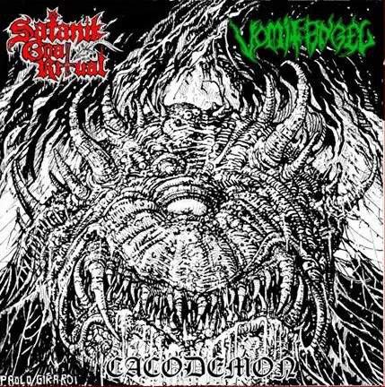"Satanic Goat Ritual / Vomit Angel - Cacodemon 7"" EP"