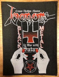 Venom - At War With Satan PATCH (White Board)