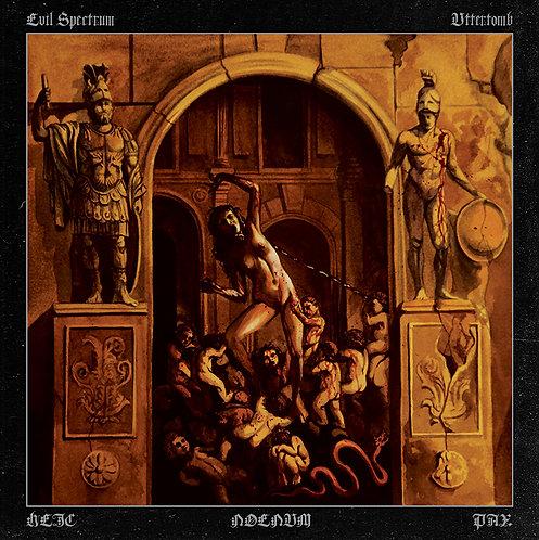 Evil Spectrum / Uttertomb - Heic Noenum Pax LP (Orange Vinyl)