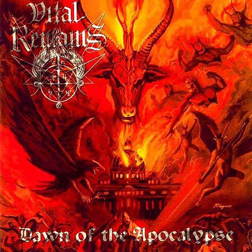 Vital Remains - Dawn of the Apocalypse LP (Orange/Gold Swirl Vinyl)