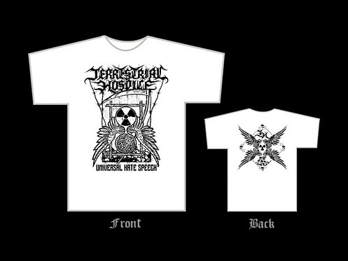"Terrestrial Hospice - ""Universal Hate Speech"" T-SHIRT (White)"