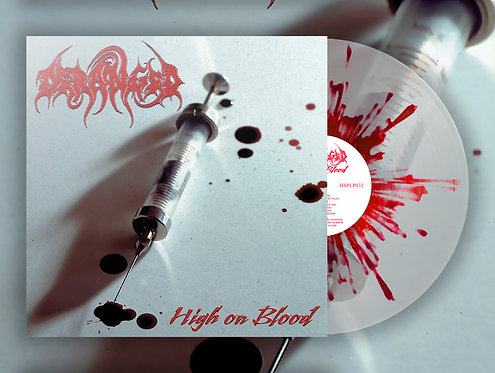 Deranged - High on Blood LP (Clear/Splatter Vinyl)